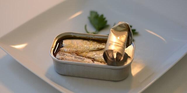 Sardinas en lata, un suplemento alimenticio.